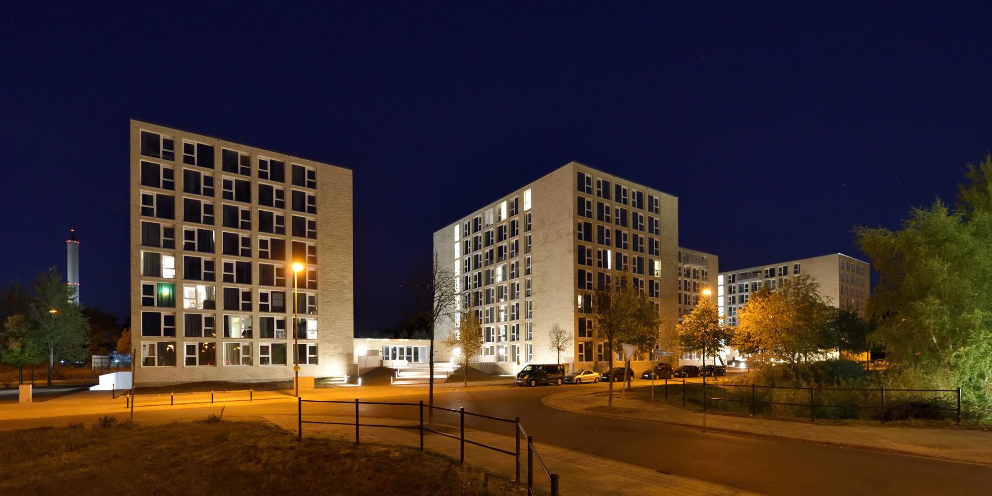 Wohnheimkomplex für Studierende und Flüchtlinge